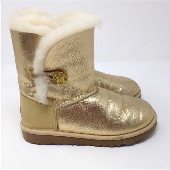 Gold Button Authentic Girls Ugg Boots